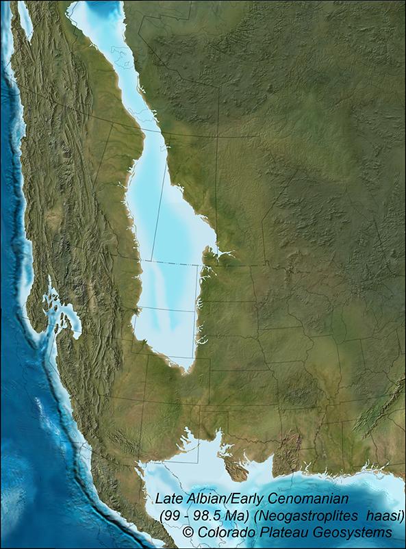 Western Interior Seaway 99 Ma Albian/Cenomian