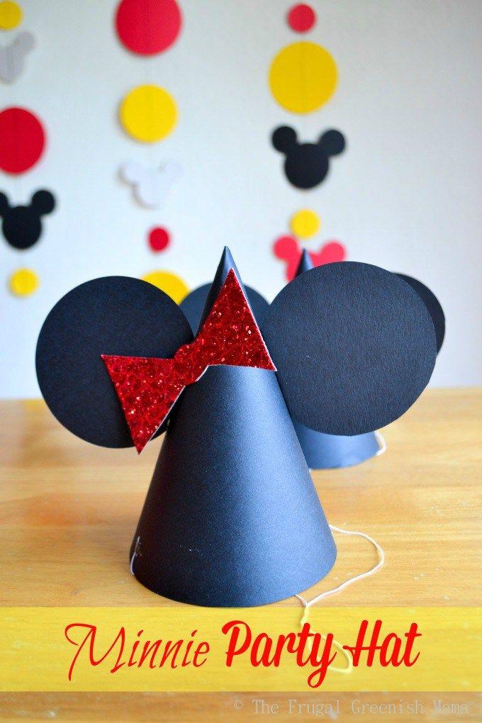 Minnie party hat with template fiesta minnie pinterest minnie minnie party hat with template maxwellsz