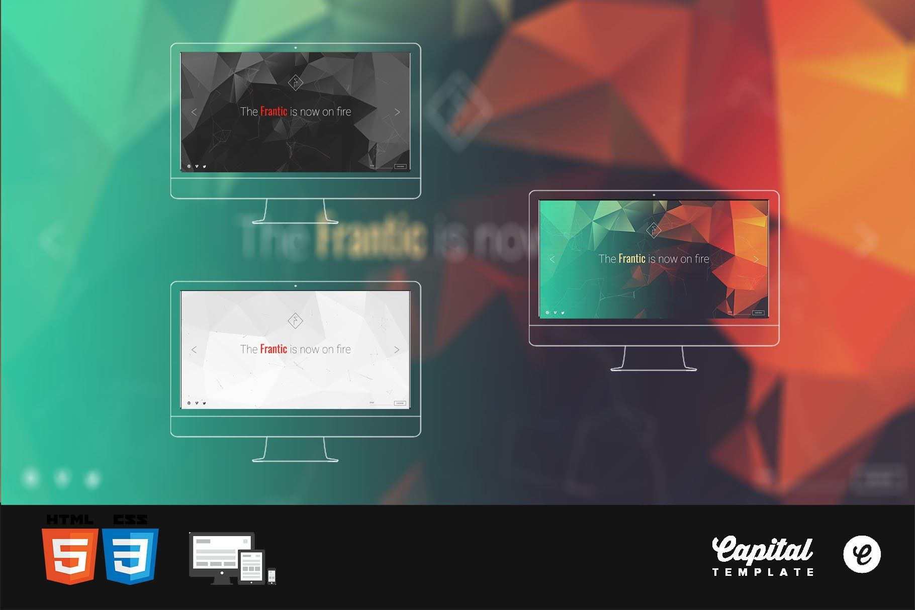 Frantic Coming Soon Template AD
