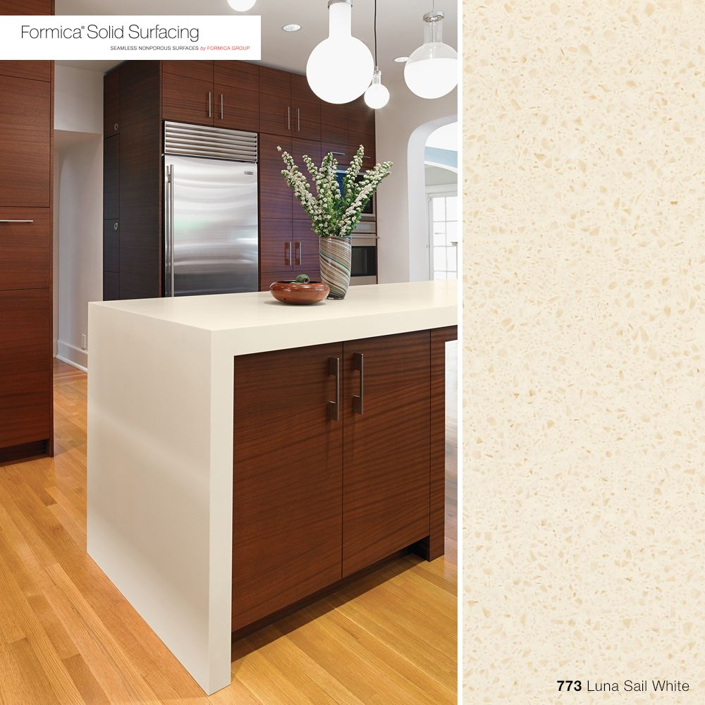 773 Luna Sail White Formica® Solid Surfacing Bold, Clean, And Modern, 773  Luna White Formica® Solid Surfacing Countertops Are The Perfect Ch.