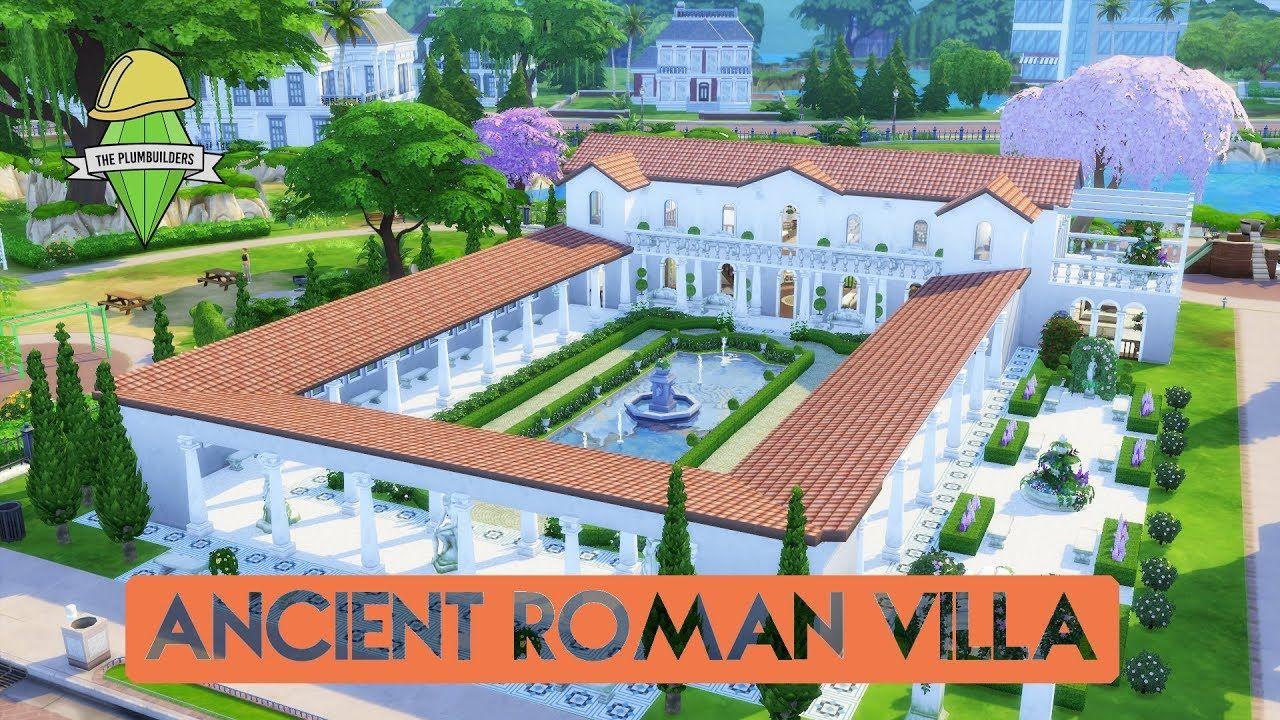 Sims 4 House Building Ancient Roman Villa Plumbuilders Collaboration Roman Villa Roman House Ancient Roman Houses