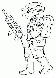 (Ücretsiz yazdırılabilir) Boyama Asker