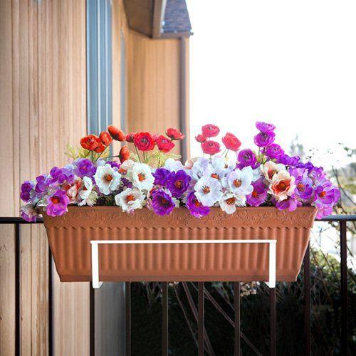 Have to have it. Sun Joe Deco Joe Adjustable Flower Box Holder - White - $19.99 @hayneedle