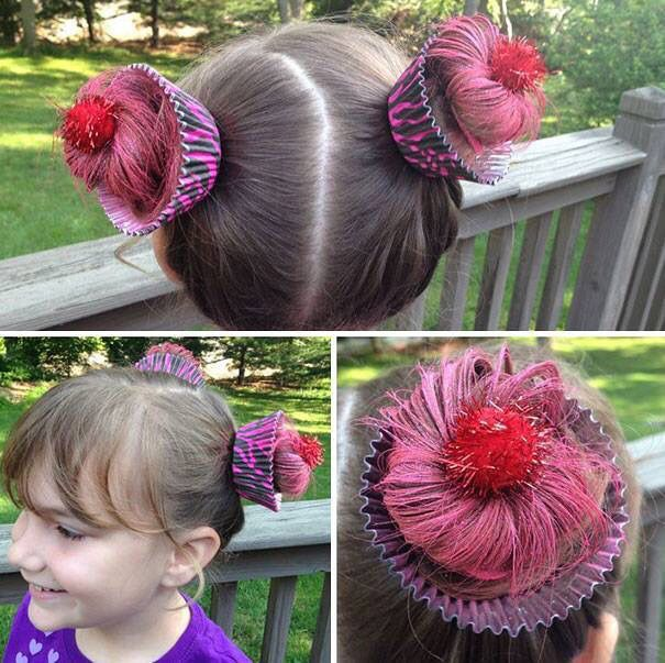 Cupcake Hair Fasching Frisur Lustige Frisuren Halloween Frisuren