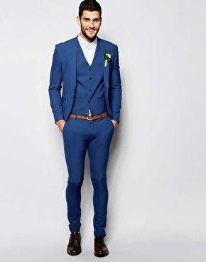 ASOS Wedding Super Skinny Suit in Mid Blue | Things to Wear ...