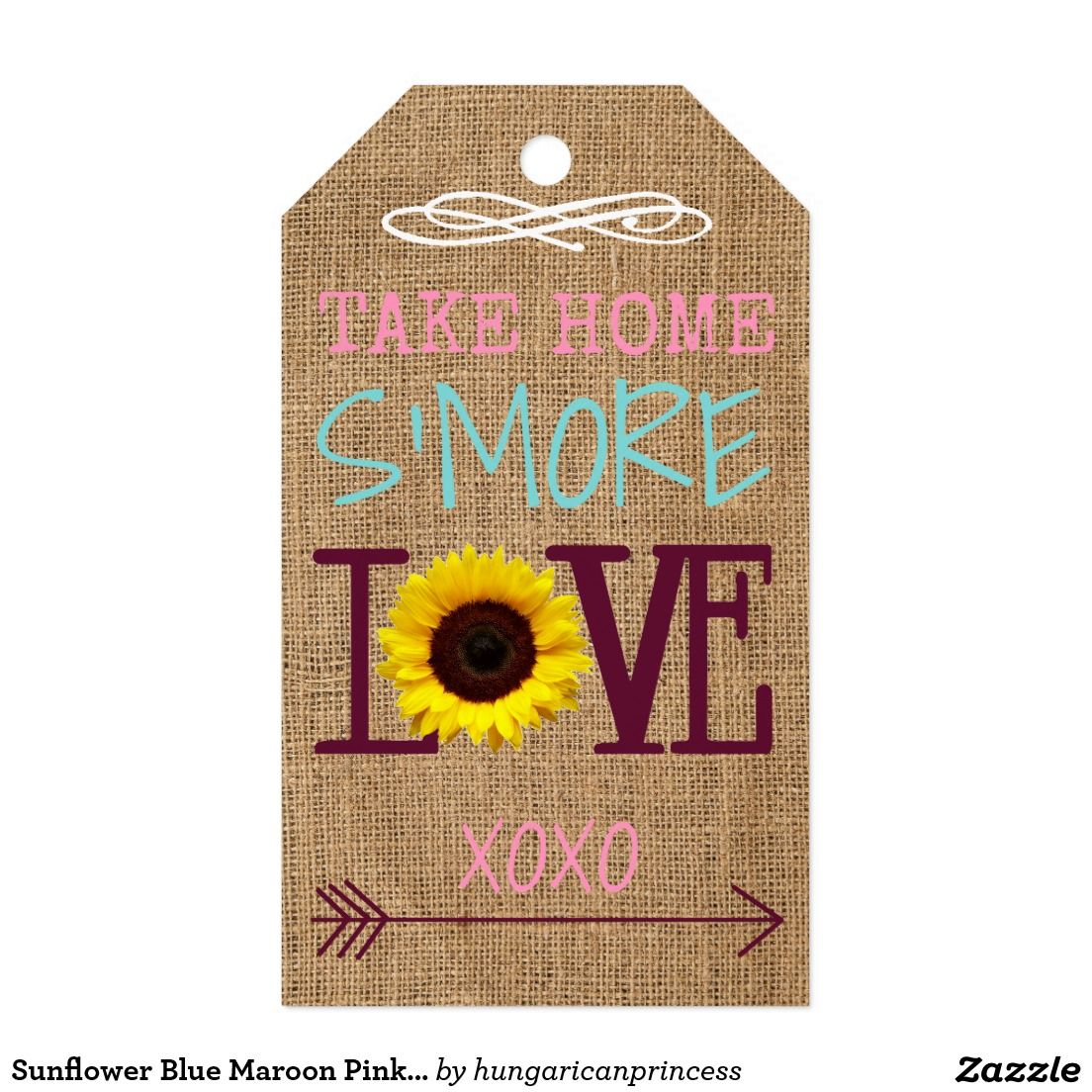 Create your own Gift Tag Sunflower themed