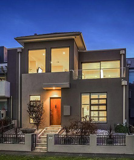 Grey facade amazing houses pinterest facades gray for Minimalist house facade
