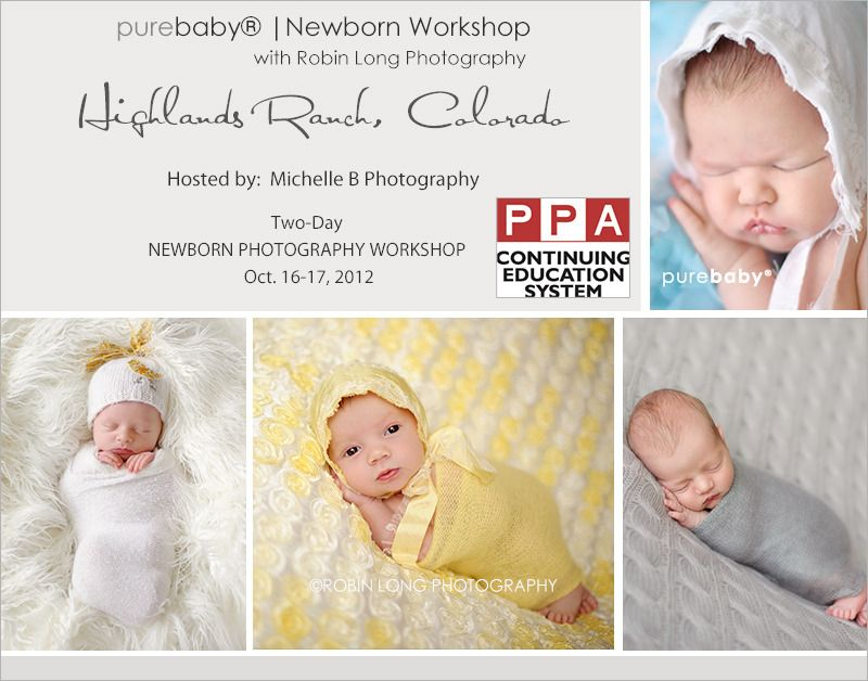 Purebaby newborn photography workshop ppa certified highlands ranch co