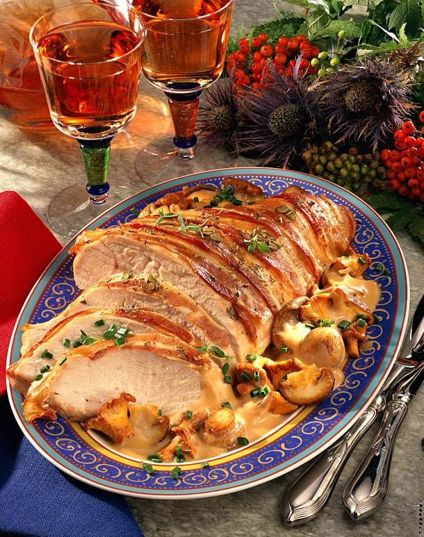 Photo of Roast Turkey with Mushroom Vegetables Recipe DELICIOUS