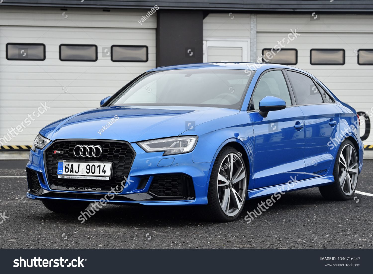 MOST, CZECH REPUBLIC - JANUARY 5, 2018: Audi RS3 in Most, Czech republic, January 5, 2018. #Ad , #sponsored, #Audi#JANUARY#CZECH#REPUBLIC