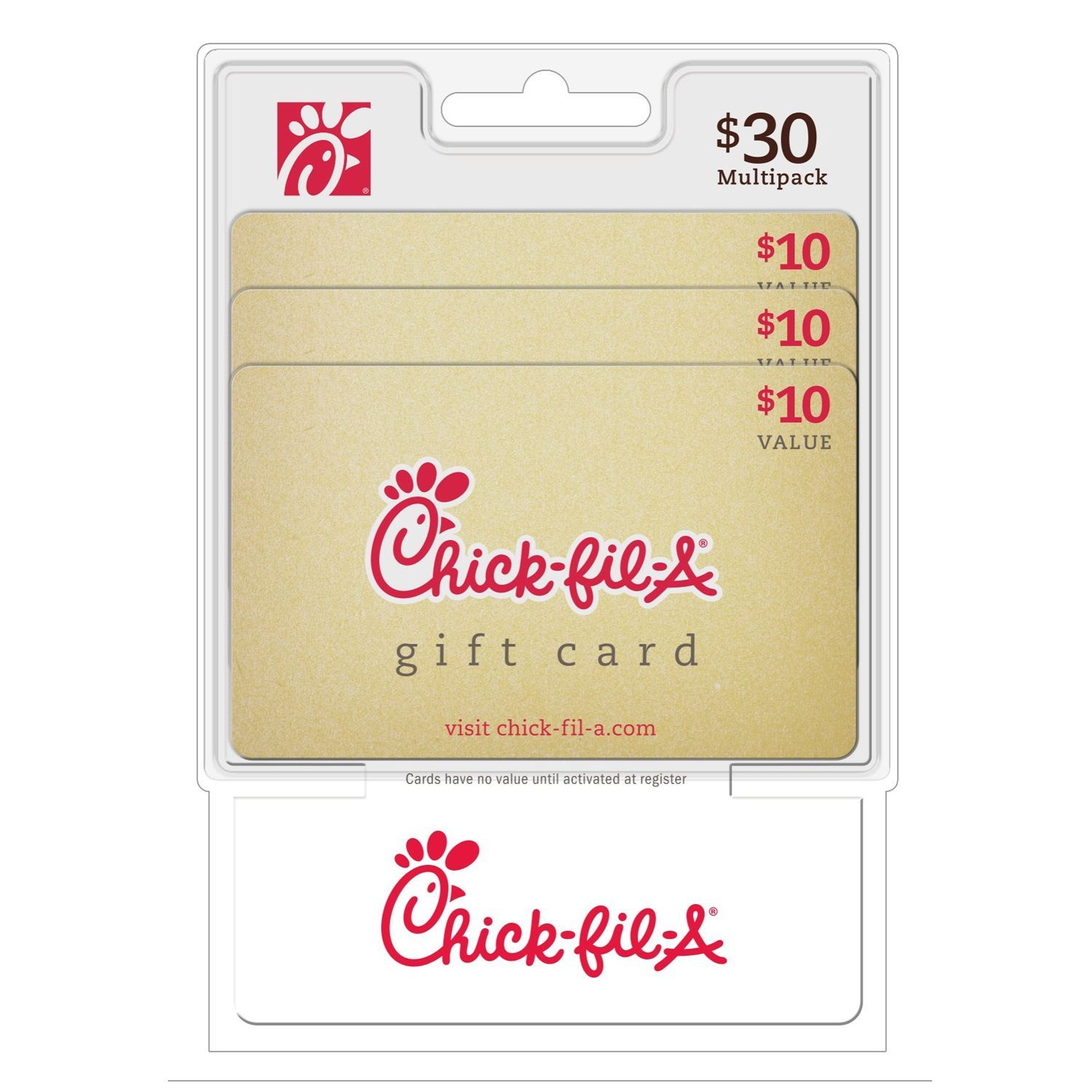 Chick-fil-A $30 Multi-Pack - 3/$10 Gift Cards - Sam's Club   Xtra ...