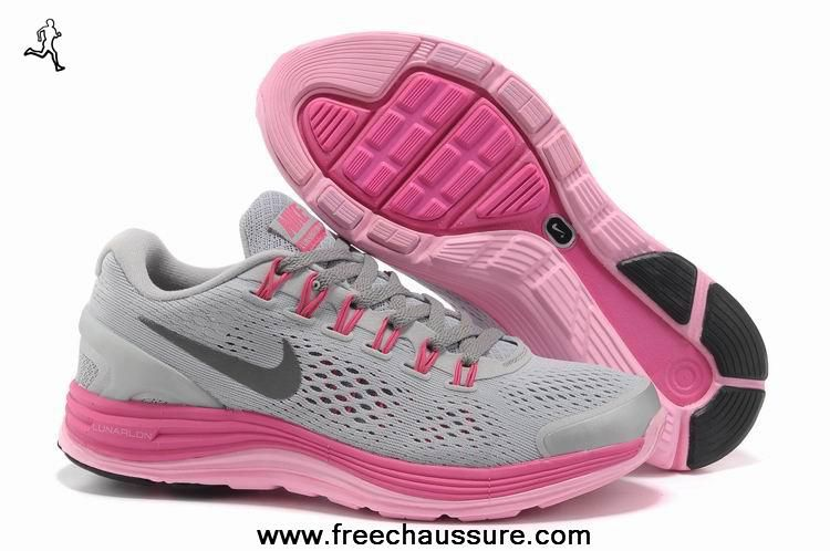 best sneakers 872cb d9155 authentic femmes 524978-009 gris rose argent nike lunarglide 4