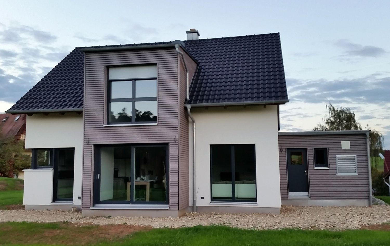 Photo of Einfamilienhaus modernes Holzhaus Satteldach Flachda – Wintergart