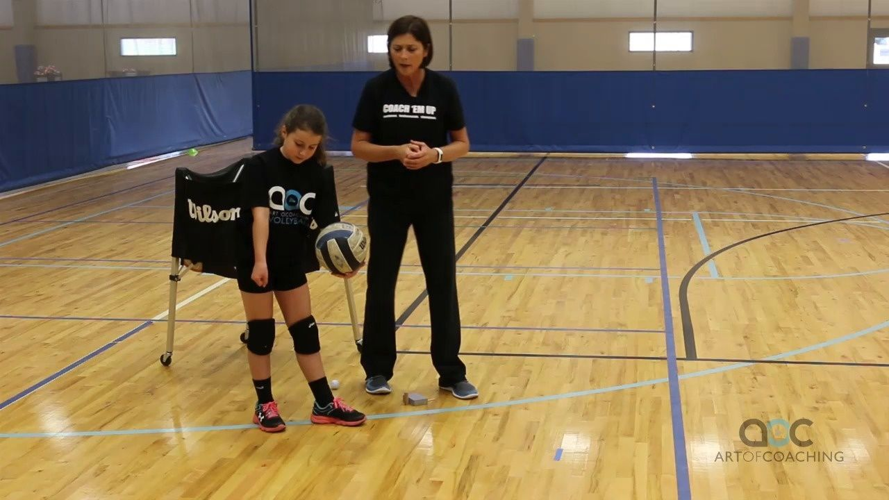 Teaching The Underhand Volleyball Serve The Art Of Coaching Volleyball Volleyball Serve Coaching Volleyball Volleyball Training