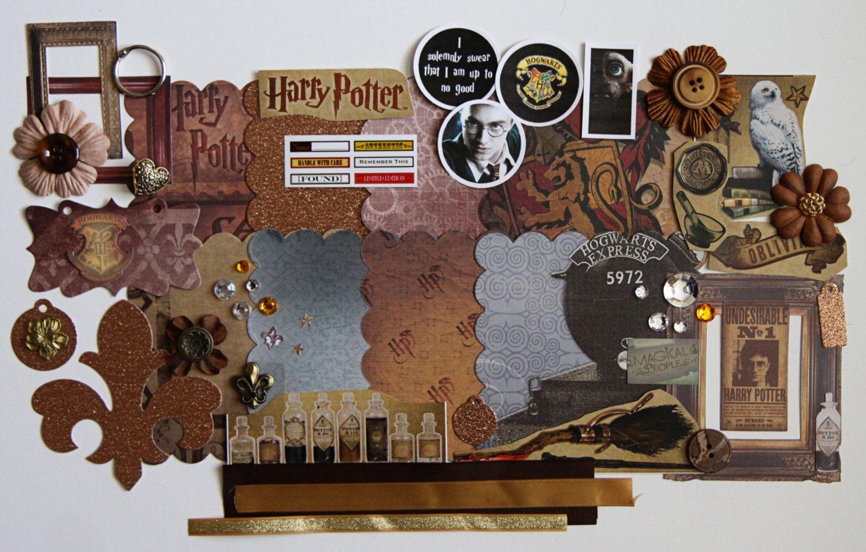 Harry potter wizard wizardry scrapbooking scallop mini