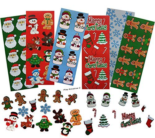 100 Assorted Christmas Stickers