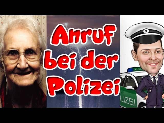 Oma Polizei Gewitter
