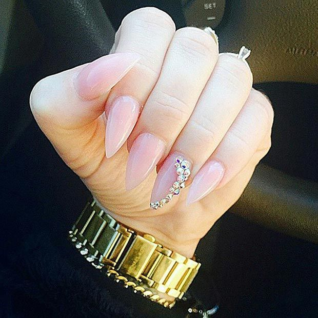 30 creative stiletto nail designs accent nails stilettos and 30 creative stiletto nail designs prinsesfo Image collections
