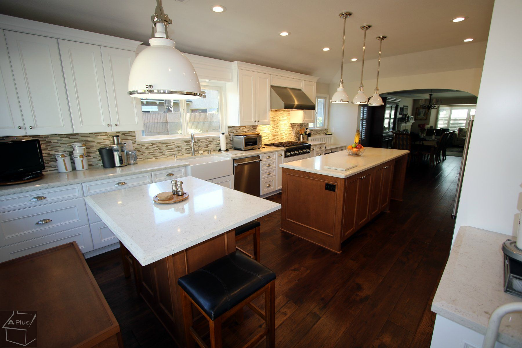 Transitional Style Kitchenremodel With Two Island Kitchen Home