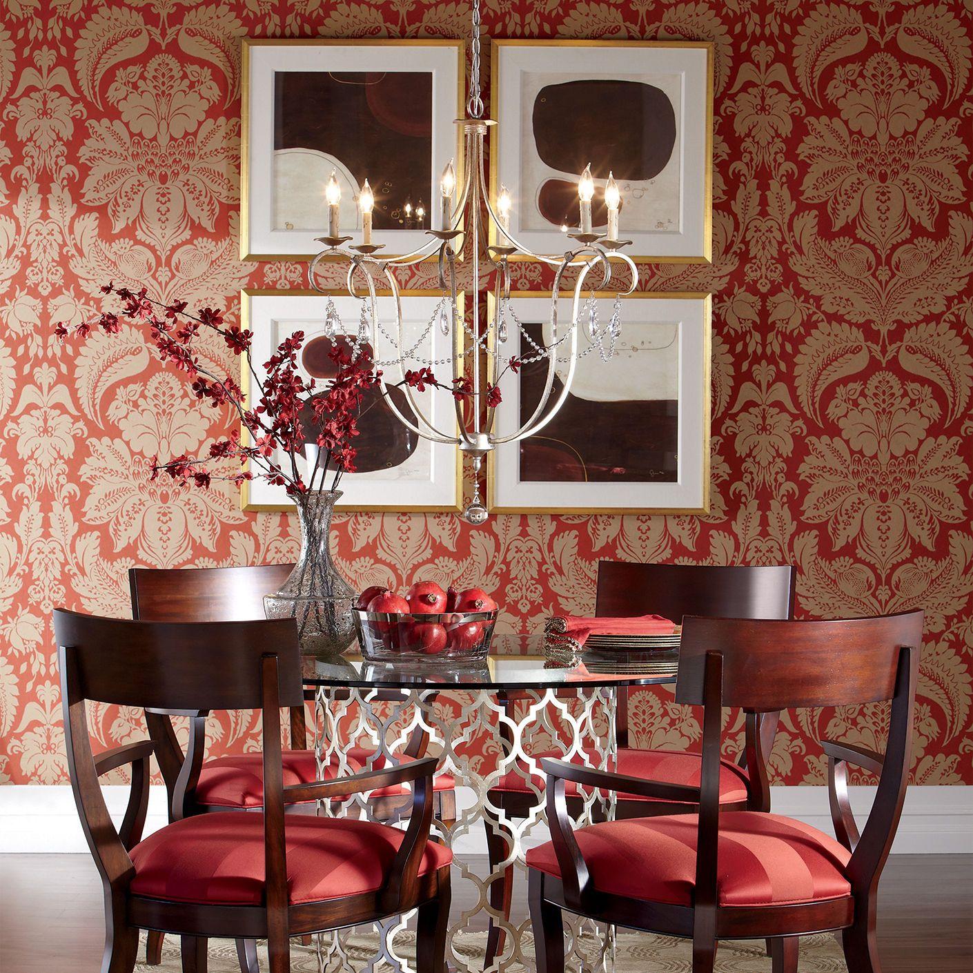 Ethan Allen Red Dining Room. Klismos Armchair