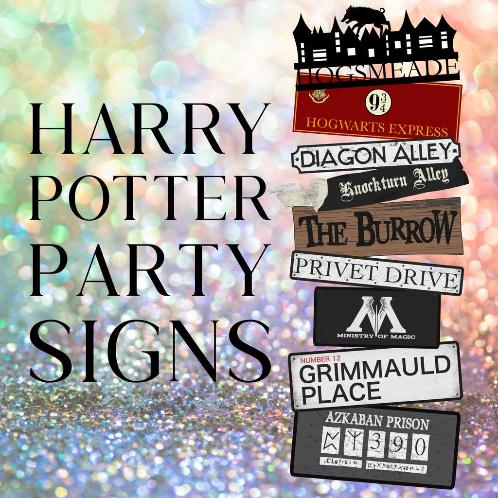 Free Harry Potter Party Signs Harry Potter Printables Free Harry Potter Free Harry Potter Printables