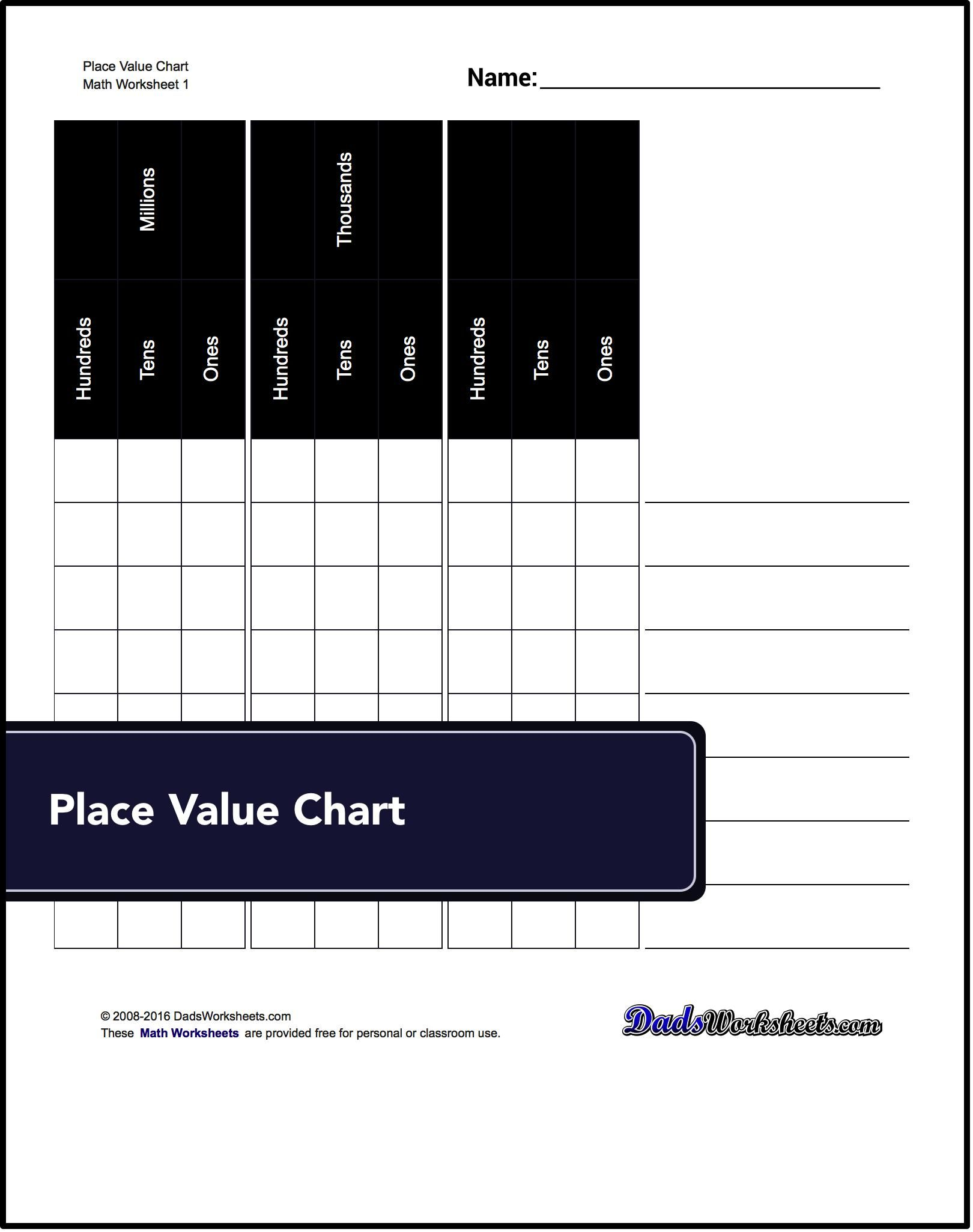 Free place value charts images free any chart examples this page has some of the best printable place value charts this page has some of nvjuhfo Choice Image