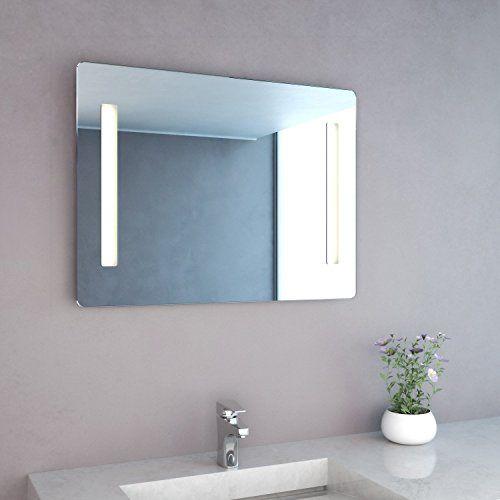 NEG Badspiegel MITRA 60x80cm (HxB) Spiegel (abgerundet) mit - badezimmerspiegel mit led