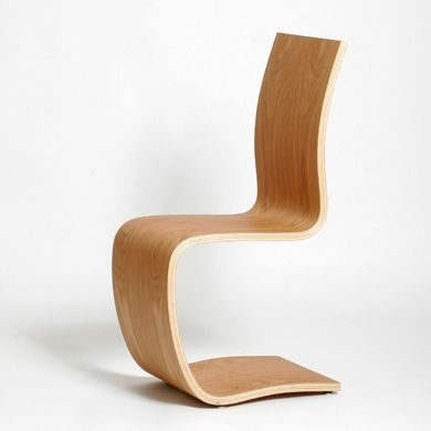 Chaise design en bois one c marque green furniture sweden designer johan - Chaises design grises ...