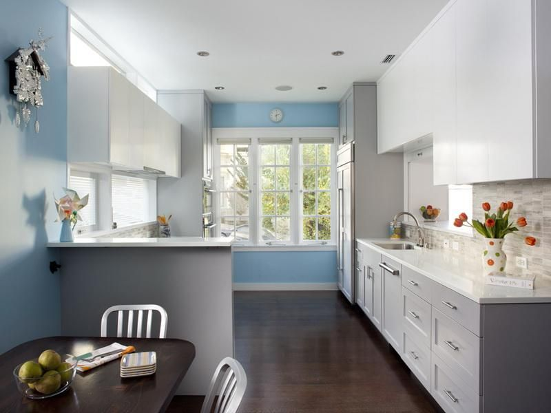 Light Blue Kitchen Walls