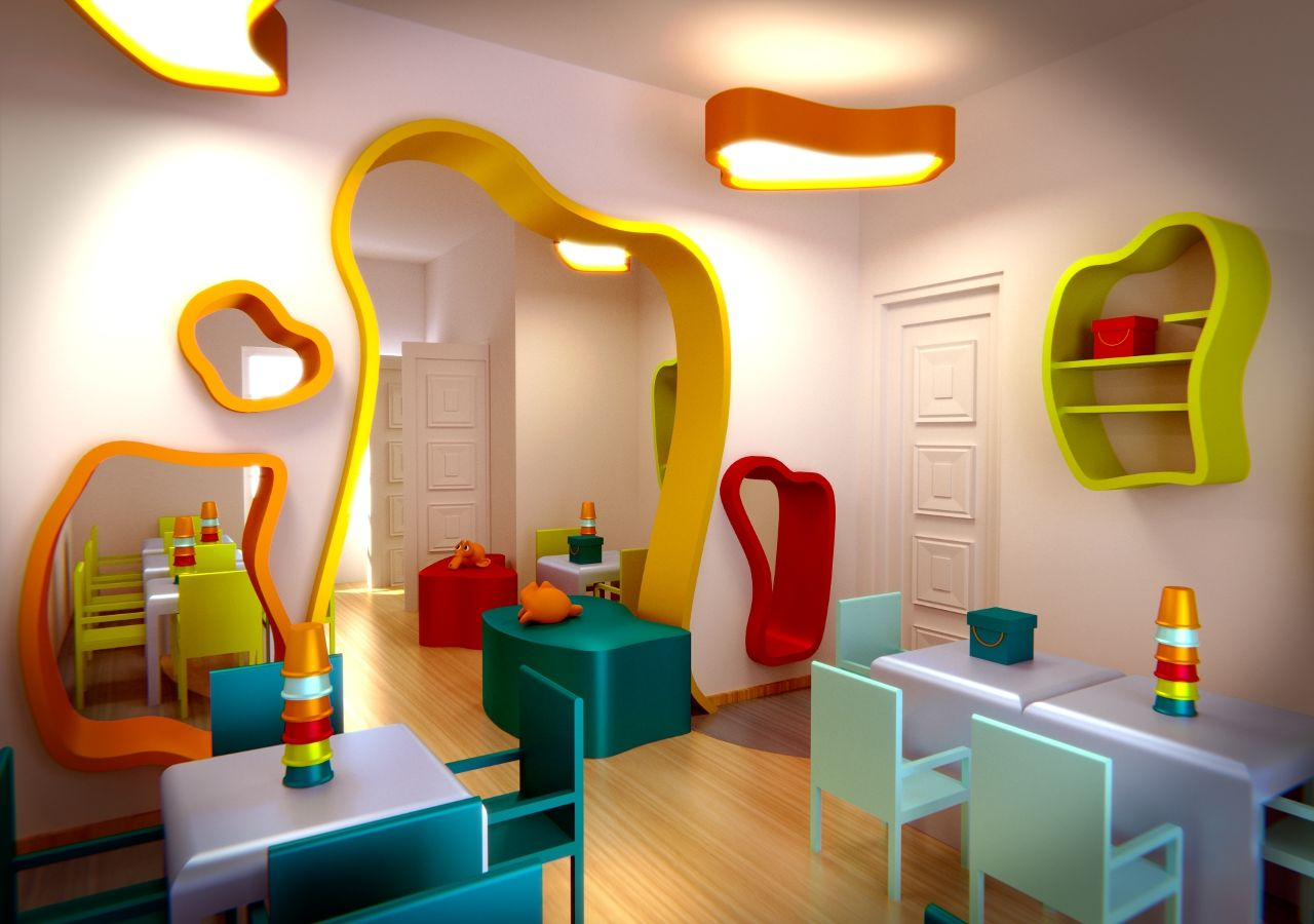 Kindergarten interior design image in 3d - 60 Photos 3d Gallery Wall Ideas Inspirations