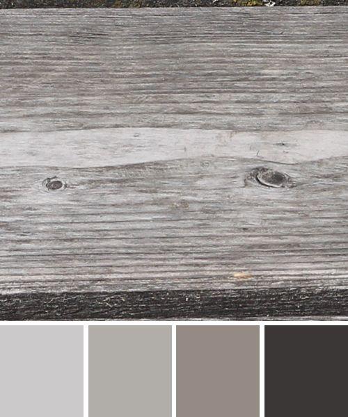 Farbinspirationen Farben Eines Verwitterten Holz Balkens Verwittertes Holz Farbpalette Grau Holz