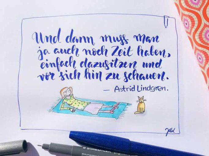 Letter Lovers Zwischen2stuehlen Zu Gast Im Lettering Interview Astrid Lindgren Zitate Zitate Handlettering Zitate