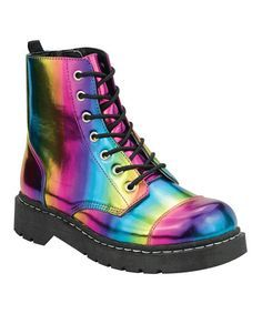 rainbow combat boots for girls - Google Search