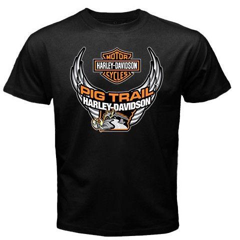 Cheap Harley Shirt Harley Davidson Motorcycles Pig Trail