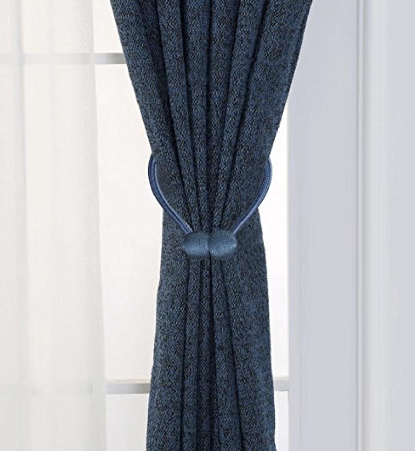 navy blue curtains curtain tie backs