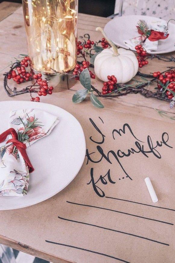 50+ Stunning Thanksgiving Table Decoration Ideas #thanksgivingtablesettings