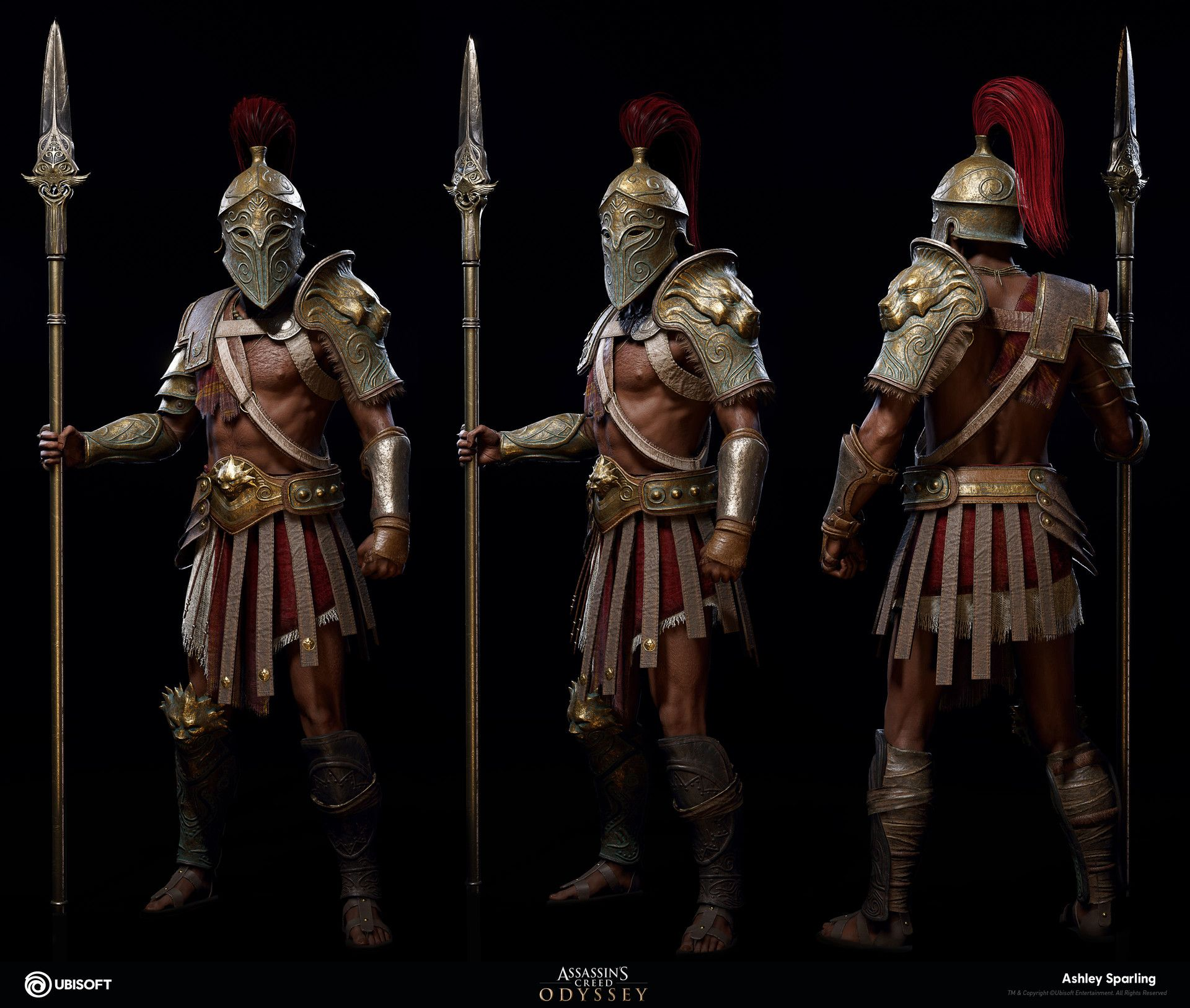 Artstation Gladiator Outfit Assassin S Creed Odyssey Ashley