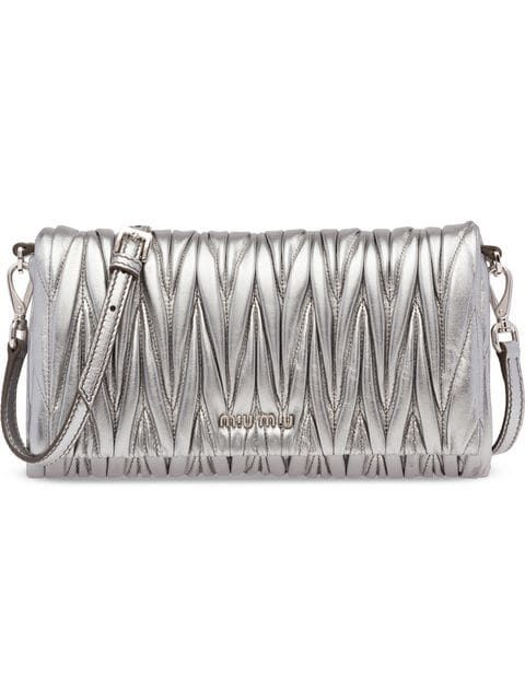 d3e622f9df Miu Miu Matelassé Mini Bag - Farfetch Braccialetti, Argento, Nero, Shopping,  Donne