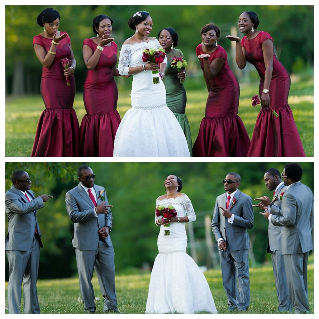 Nigerian wedding bridal party red and green wedding colors miss nigerian wedding bridal party red and green wedding colors ombrellifo Gallery