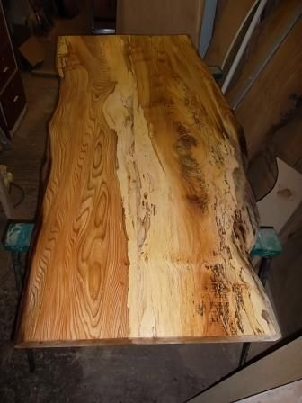 Spalted Ash Dining Table Top