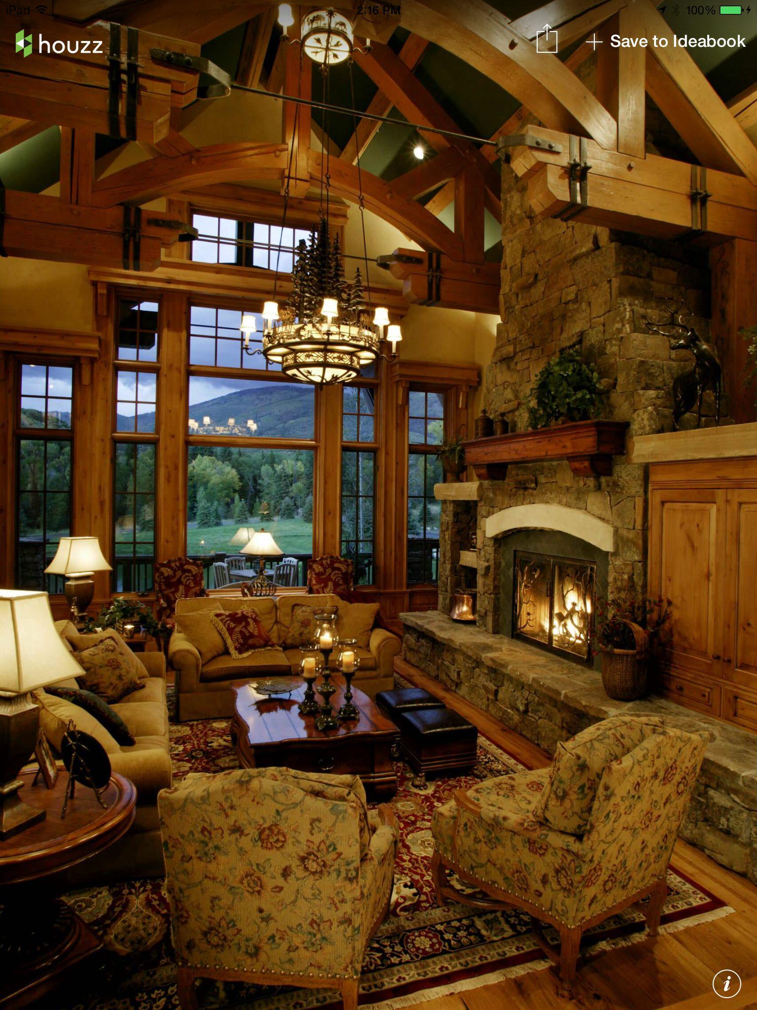 Houzz Cottage Living Room: Cabin Living Like A Boss #houzz