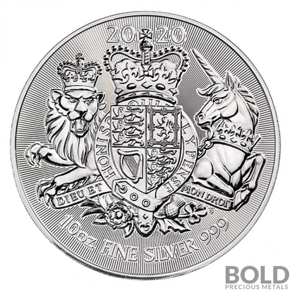 2020 10 Oz Silver Great Britain Royal Arms Coin In 2020 Precious Metals Silver Bullion Silver Bullion Coins