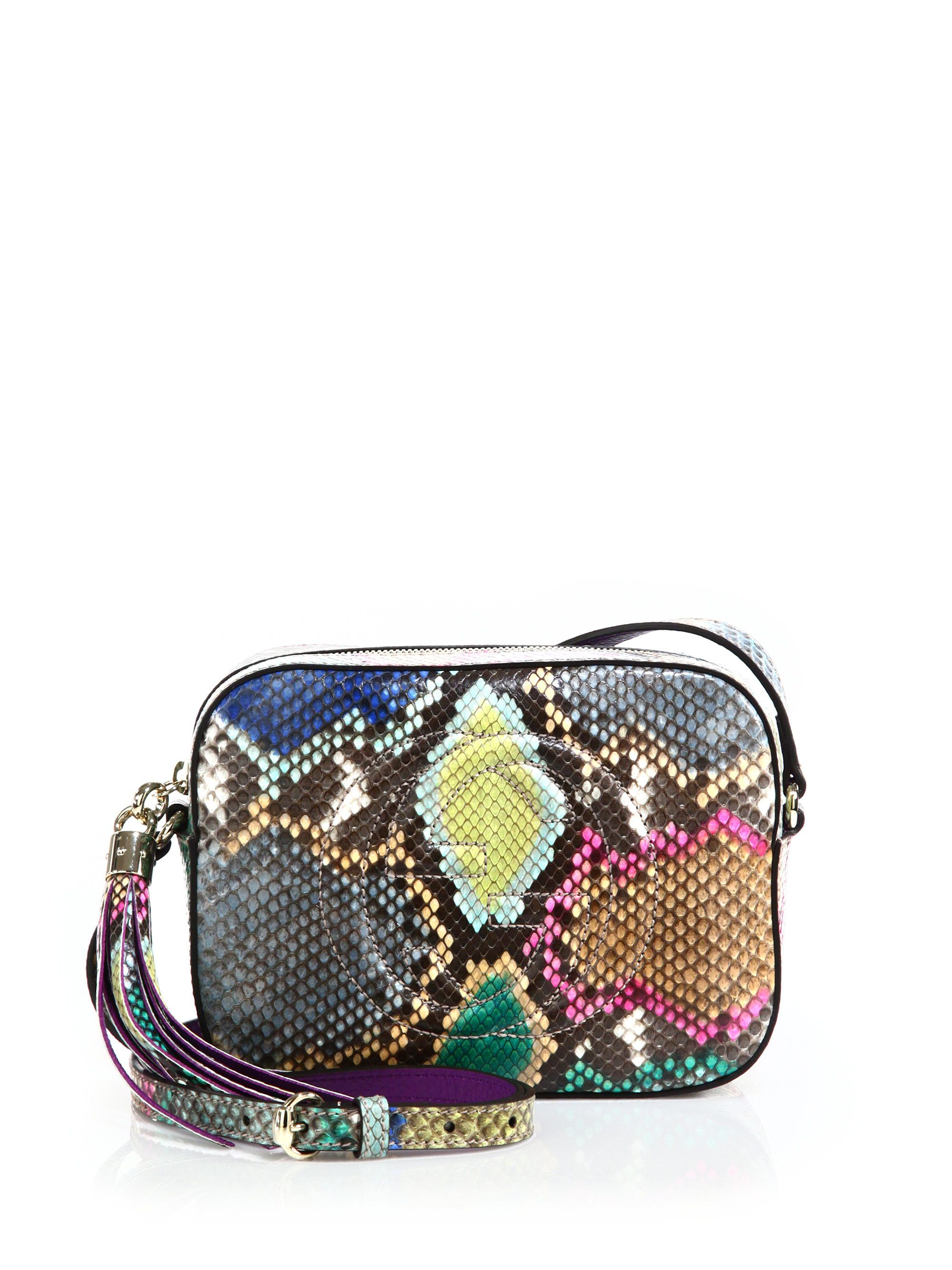 d9b34bbabbd9 Gucci | Multicolor Soho Python Disco Bag | Lyst Gucci Handbags, Gucci Bags,  Purse