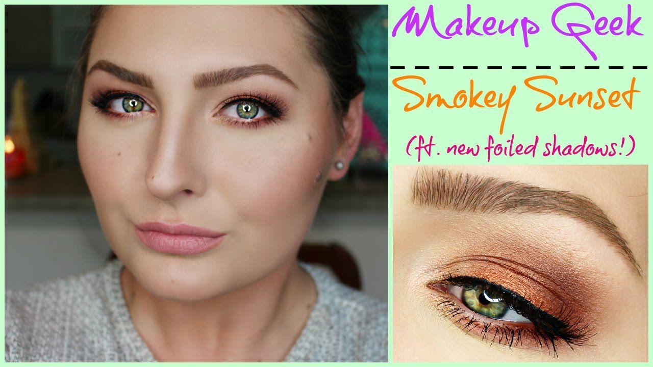 Smokey Sunset · ft. Makeup Geek foiled shadows