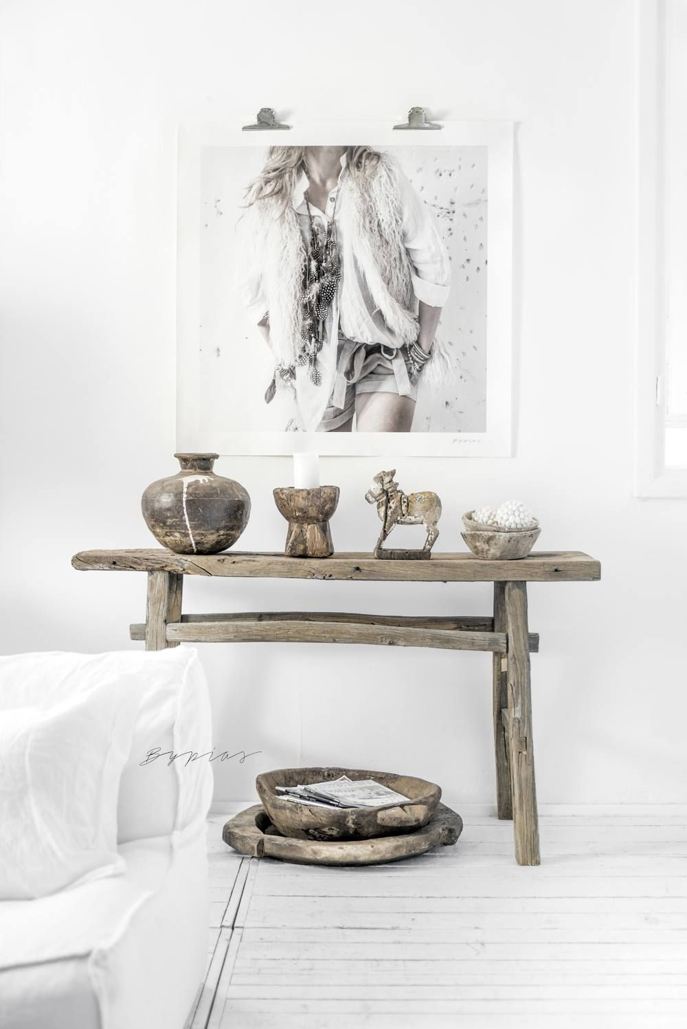 BYPIAS HOME - CANVAS POSTER & CANDLE HOLDER, NANDI STATUE, METAL POT ...