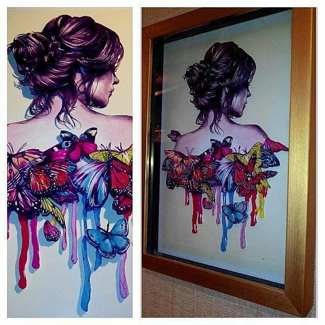 Папертоль «Девушка в бабочках» Объемный декупаж, картина из бумаги, вырезание, 3D-изображение - Zvetnoe.ru - картины по номерам, картина по цифрам, раскраски по номерам