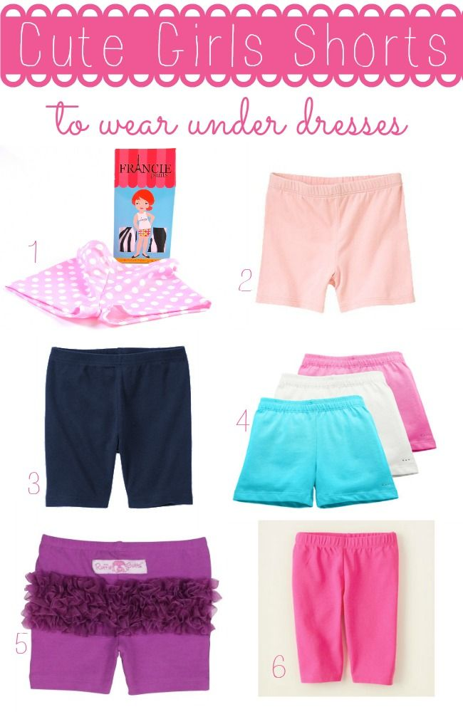 Cute Shorts for Girls to Wear Under Dresses | Shorts, Girls and ...