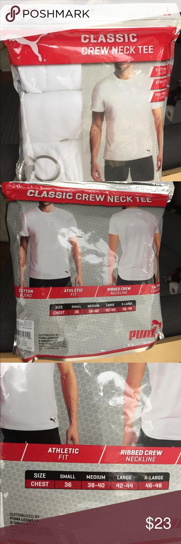 ca4aa2ea362 PUMA Men Classic Crew Neck Tee (LARGE) Puma Men's Classic Crew Neck Tee T