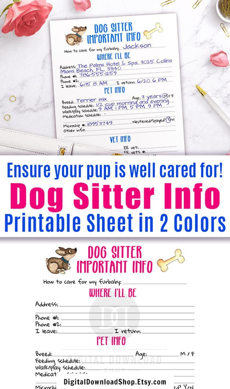 Pin On Pet Sitting Forms