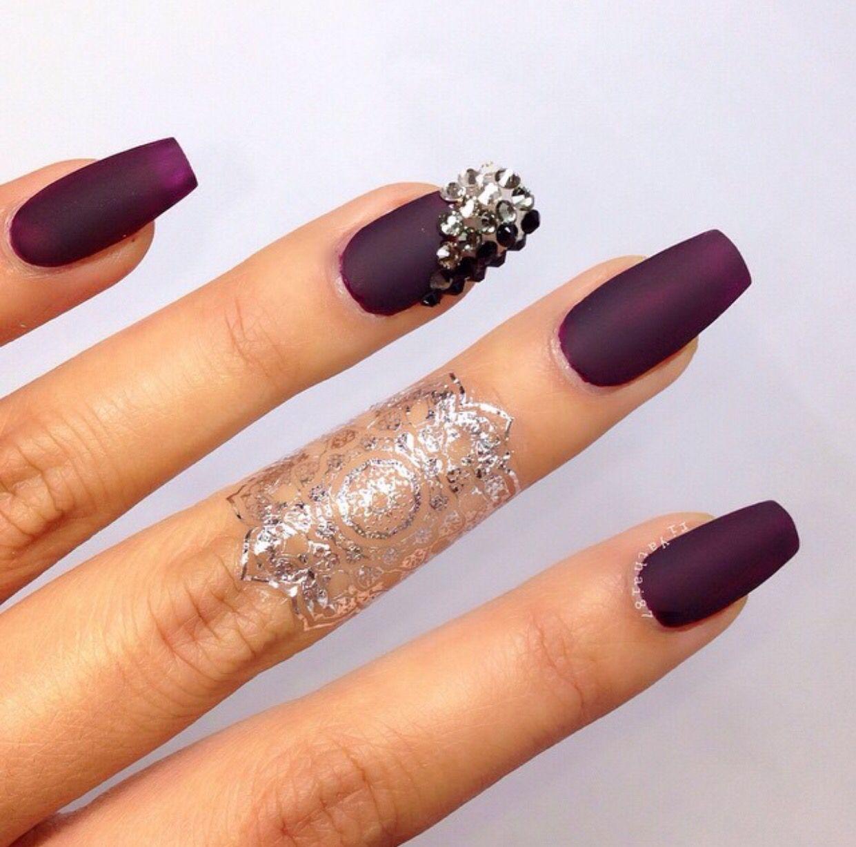 Purple and sparkle! | Nail\'D IT | Pinterest | Nail nail, Nails ...